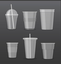 set of empty transparent vector image