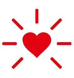 shine heart icon vector image