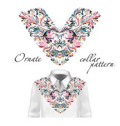 shirt jacket and t-shirt collar pattern vector image