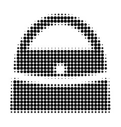 shopping bag halftone dotted icon vector image