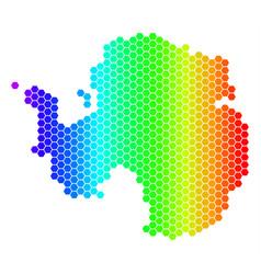 Spectrum hexagon antarctica map vector