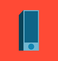 Technology gadget in flat design subwoofer vector