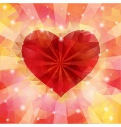 Triangular heart vector