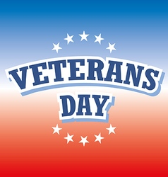 Veterans Day USA banner on red and blue background vector image
