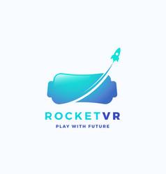 virtual reality rocket abstract icon sign vector image
