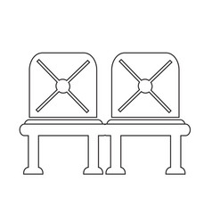 waiting sign airport seat icon vector image
