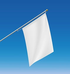 White flag Stock vector image