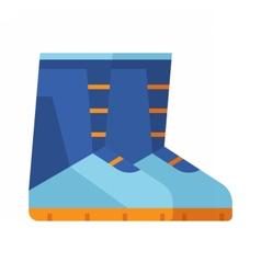 Winter Snowboard Boots Icon vector