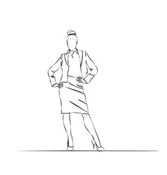 woman stylish in a suit office man vector image