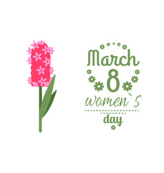 womens international day lilac and 8 march vector image
