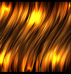 abstract background with gold luminous wavy lines vector image