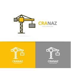 crane and construction logo design vector image