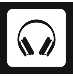 Headphones icon simple style vector image vector image