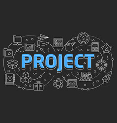 linear slide for the presentation vector image
