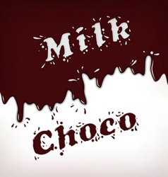 Milk and Choco Splash vector image
