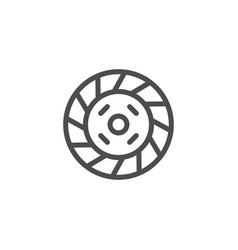 car clutch line icon vector image