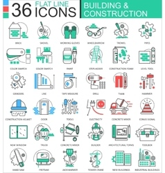 Construction and building tools modern vector image
