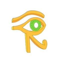 Eye of Horus icon in cartoon style vector image