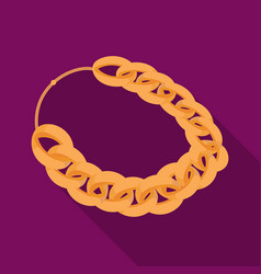 Jewellery chain icon in flat style isolated on vector