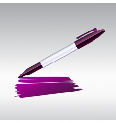 marker drawing vector image