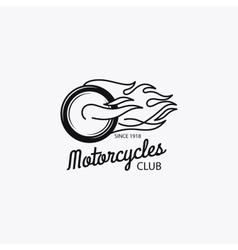 Motorcycle club mono color logotype vector image