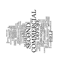 Your second commercial text background word cloud vector