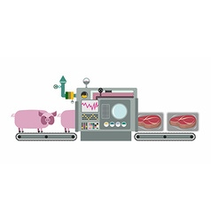 Apparatus for cooking cuts of meat steak Machine vector image