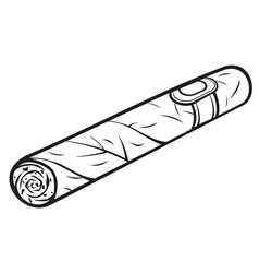 cuban cigar vector image vector image