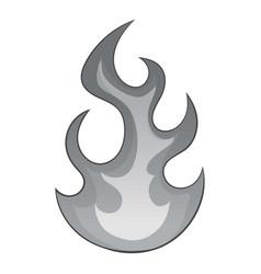 flame icon monochrome vector image vector image