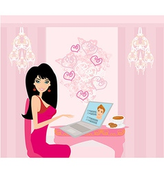 Love in web vector image