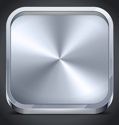 Metallic Icon vector image vector image