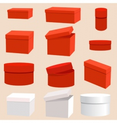 set of empty boxes vector image