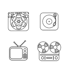 Set of line icons vector image