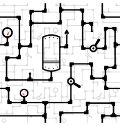 Steampunk pattern vector image