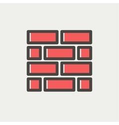 Bricks thin line icon vector image