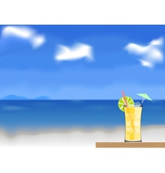 coctail on the beach vector image