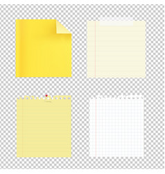 Collection of note papers vector