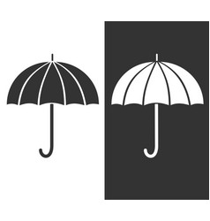 gray umbrella icon sign of protection and safety vector image vector image