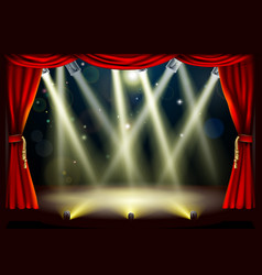 theater stage lights vector image