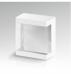 white blank cardboard rectangle 3d empty vector image