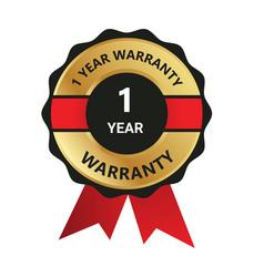 1 year warranty badge warranty certificate yea vector