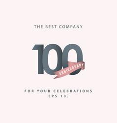 100 year anniversary celebration template design vector image