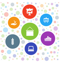 7 growing icons vector image