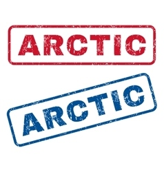 Arctic Rubber Stamps vector image