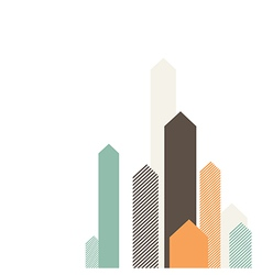 arrows up color vector image