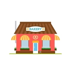 Bakery flat style icon isolated on white vector image