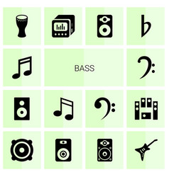 Bass icons vector