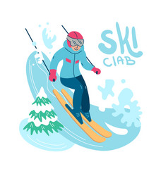beautiful flat winter sport vector image