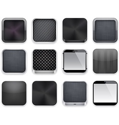 Black app icons vector