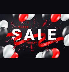 black friday sale ads celebration banner template vector image